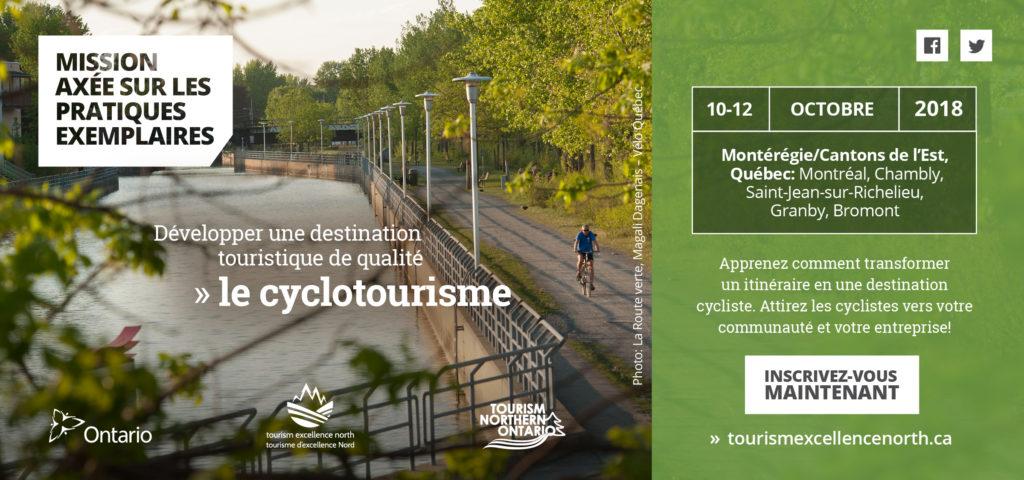 Mission axée sur les pratiques exemplaires : développer une destination touristique de qualité – le cyclotourisme